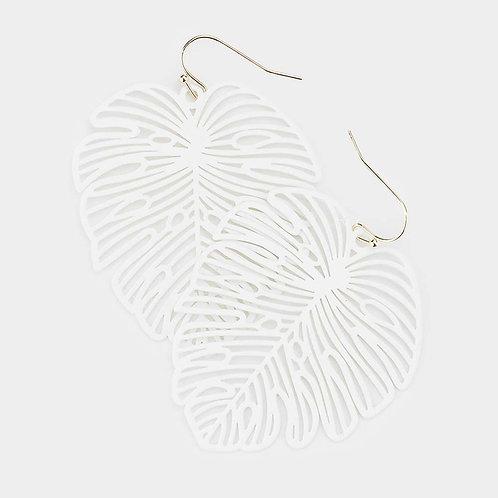 Monteria Leaf - White Metal