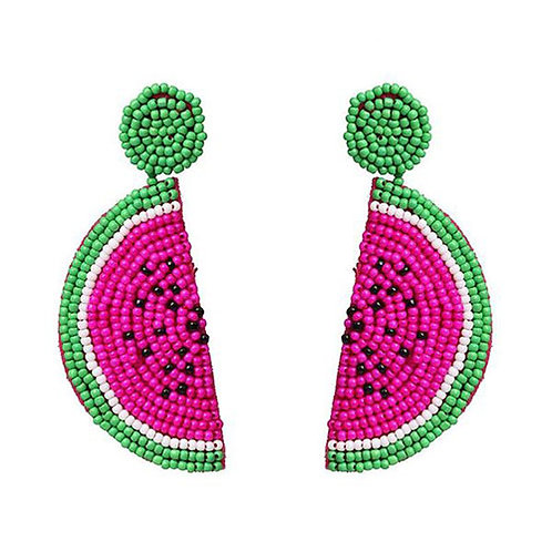 Beaded Fruit - Watermelon Pink