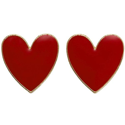 Red Enamel Heart