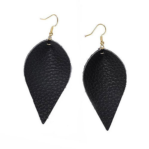 Black Leather Teardrop