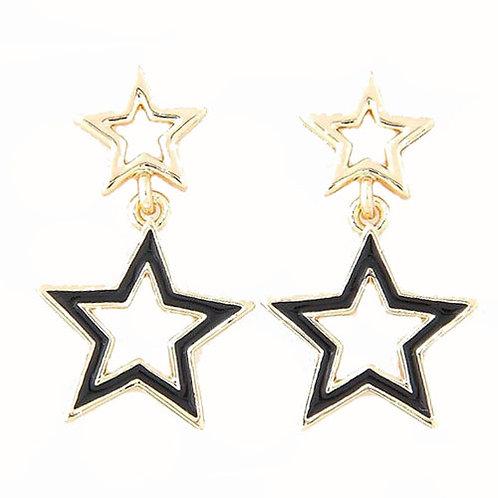 Mini Star Dangle Black
