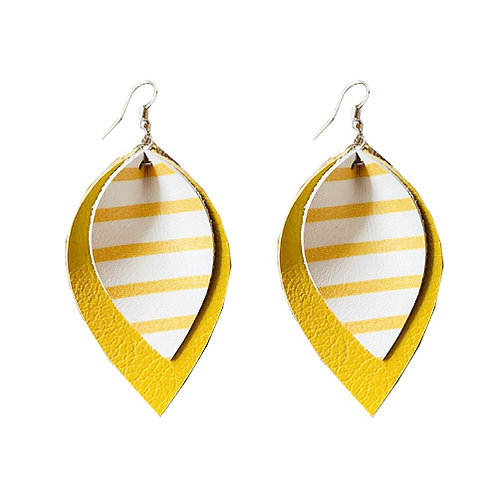 Yellow Stripes Layered Teardrop