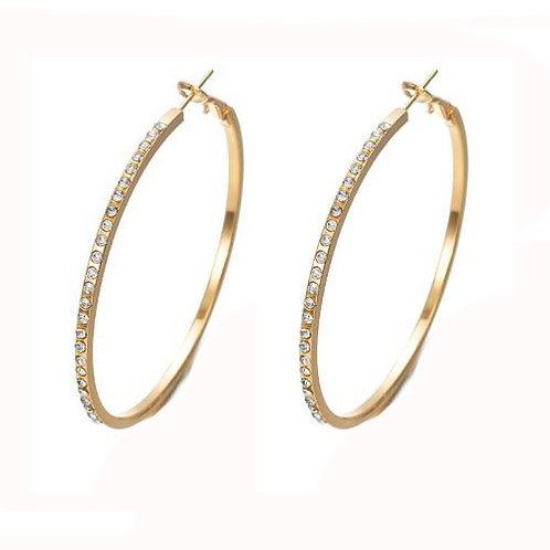 Hoop Gold Gemstone