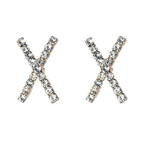 X Studs Silver