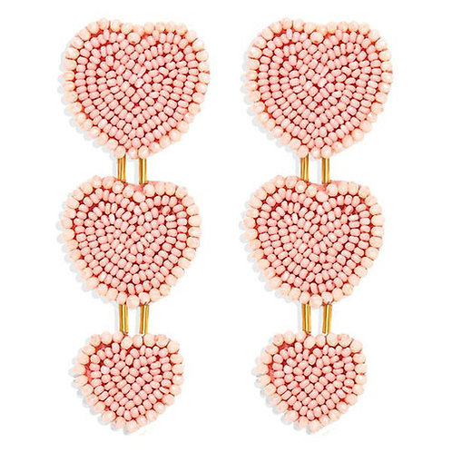 Cupid's Beaded Heart Stack - Blush