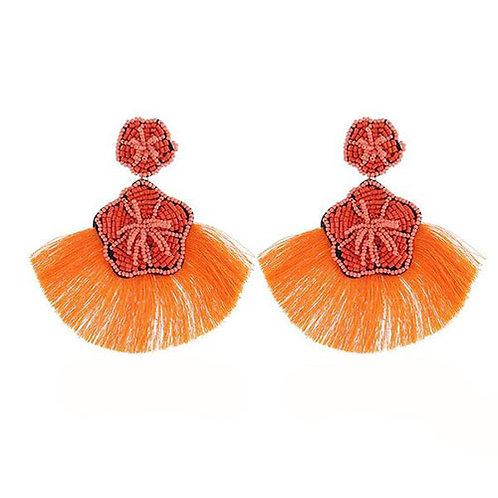 Beaded Hibiscus Orange