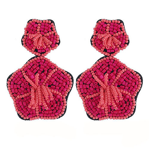 Beaded Hibiscus Sm Pink