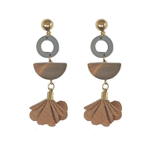 Brown Wood + Fabric Petals