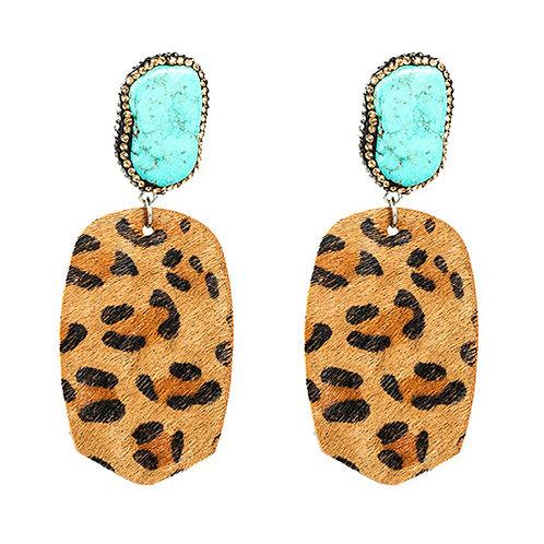 Teal + Leopard