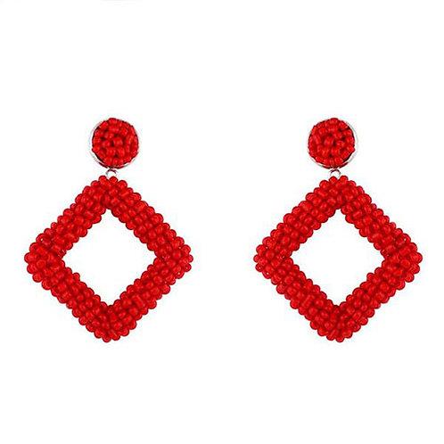 Diamond Red Beaded
