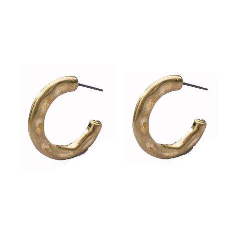 Slender Matte Gold Mini Hoop