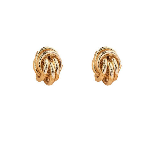 Textured Gold Knot Stud