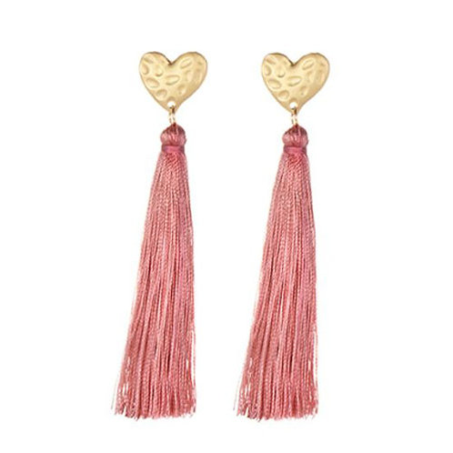 Heart Tassel Blush