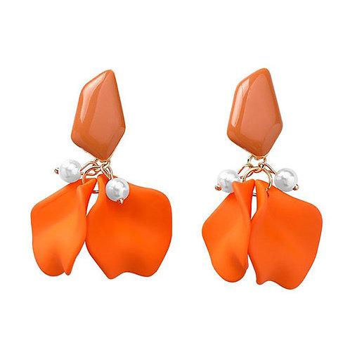 Petal Cluster + Pearls Orange