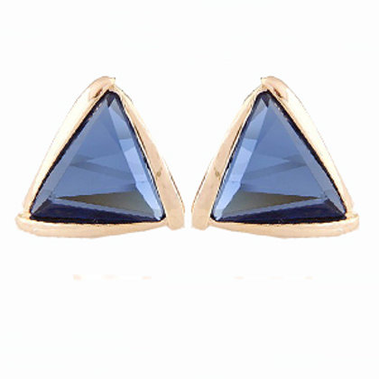 Navy Triangle Studs