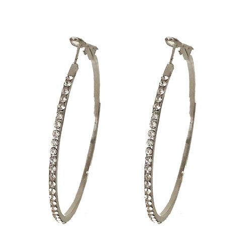 Hoop Silver Gemstone