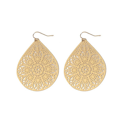 Intricate Gold Teardrop