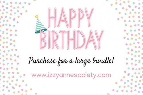 Birthday Gift Card - Large Bundle (5 pairs)