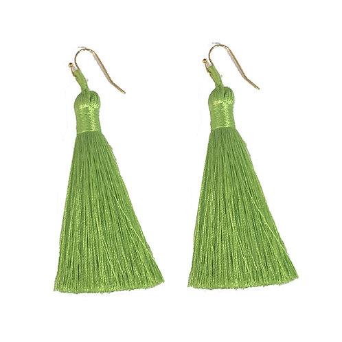 Thick Tassels Neon Green