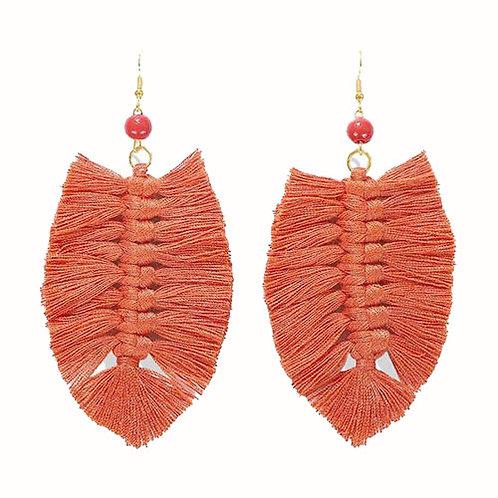 Feather Macrame Orange