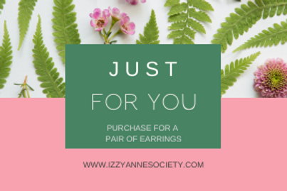 Just For You - One Pair of Earrings