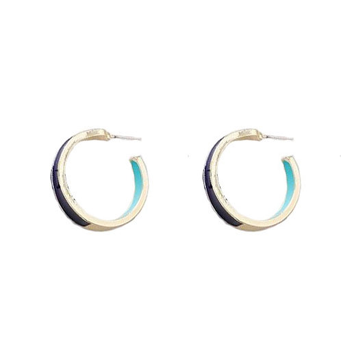 Duo Color Hoop Blue + Navy