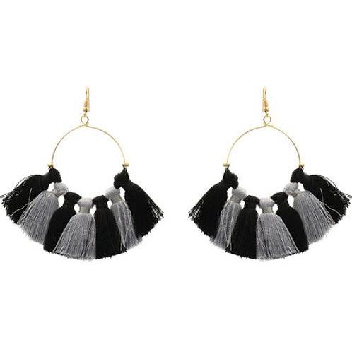 Duo Tassel Black/Gray