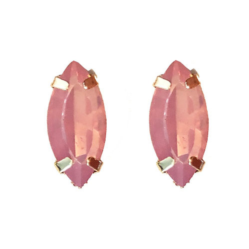 Pink Oblong Gem Stud