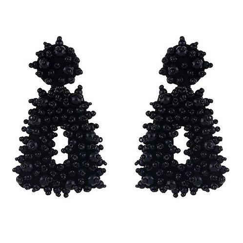 Cobblestone Beads Black