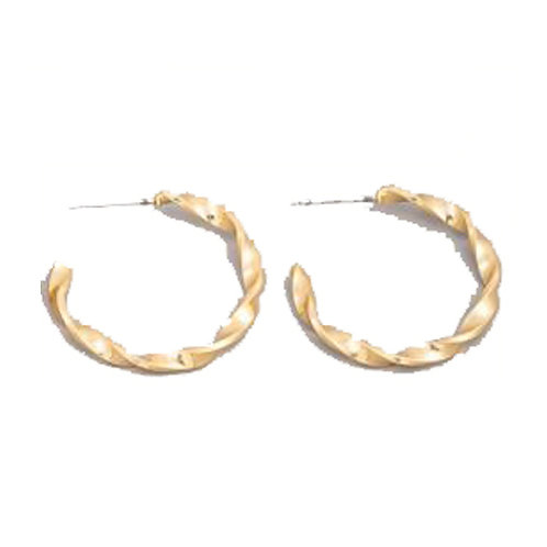 Reverse Twisted Hoops Gold
