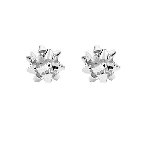 Silver Bow Studs