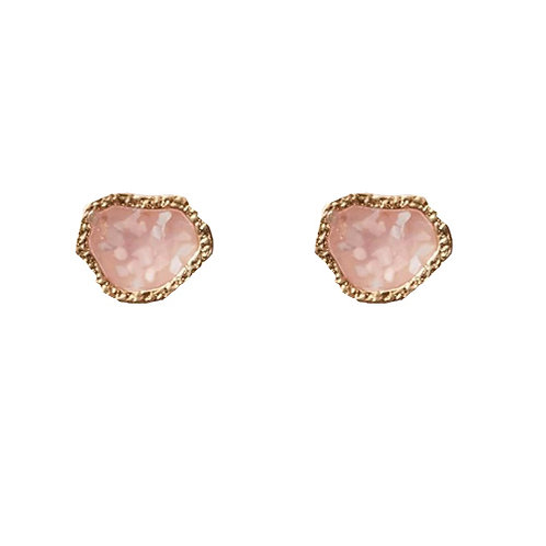 Geode Pink Stud