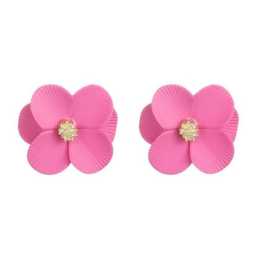 Rounded Flower Studs