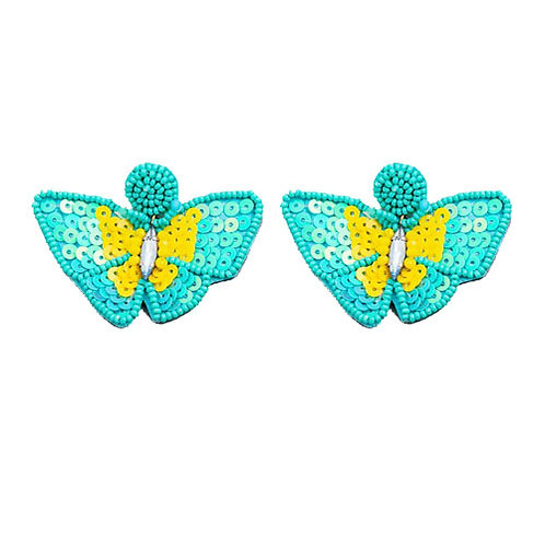 Beaded Butterfly - Teal