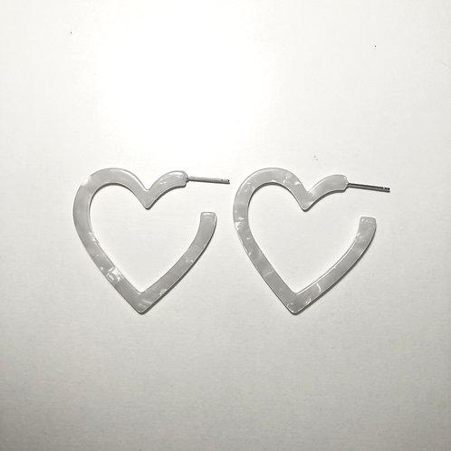 White Celluloid Heart