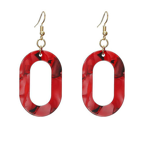 Red Celluloid Oval