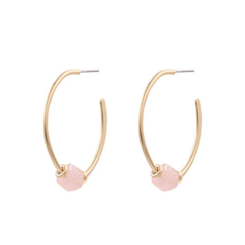Stone Hoop - Pink