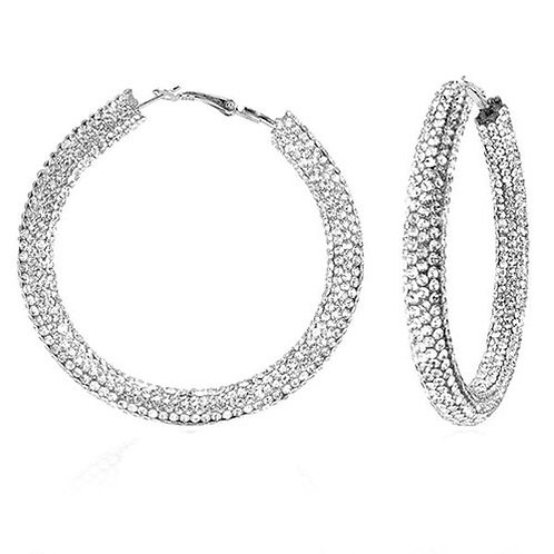 Bronx Silver Sparkle Hoops