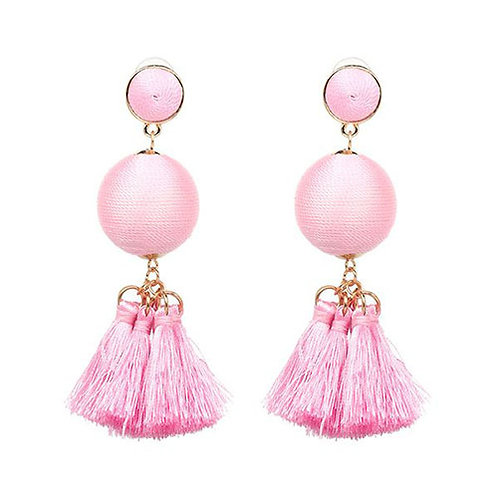 Mini Multi Tassel Light Pink