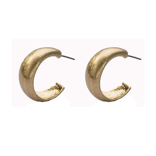 Matte Gold Mini Hoop