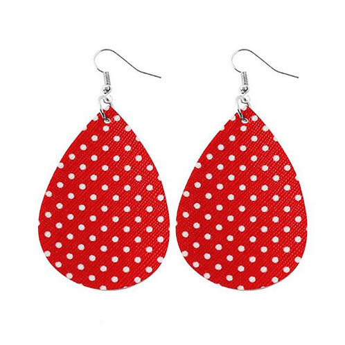 Polka Dot Red Leather
