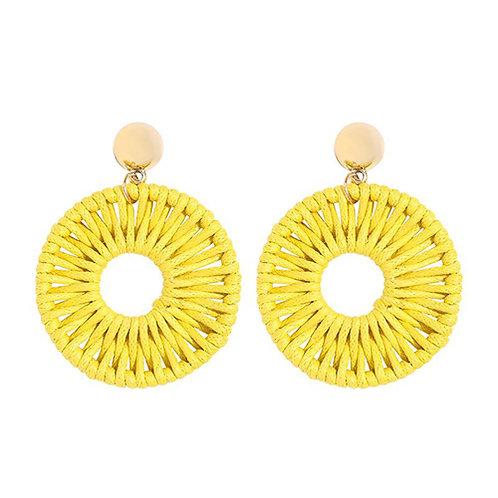 Woven Round - Yellow