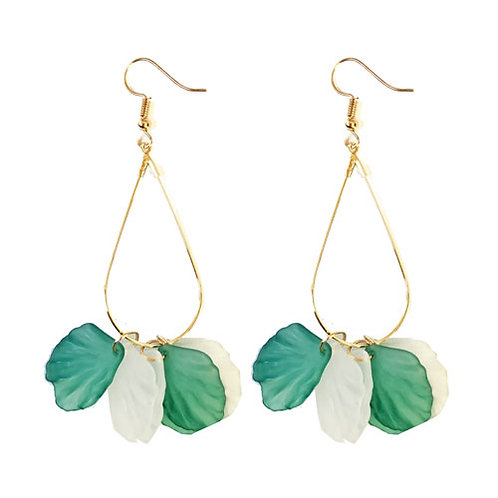Petal Dangles Lt Green