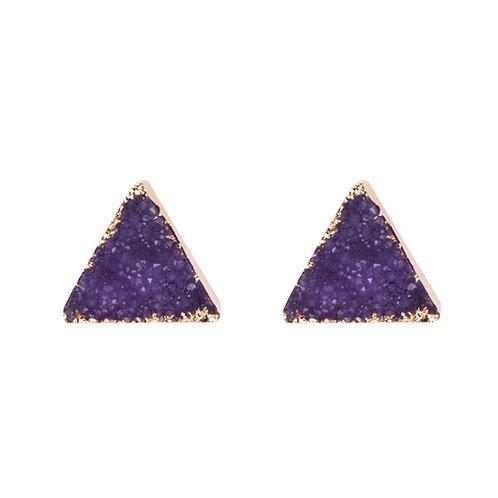 Triangle Purple Druzy
