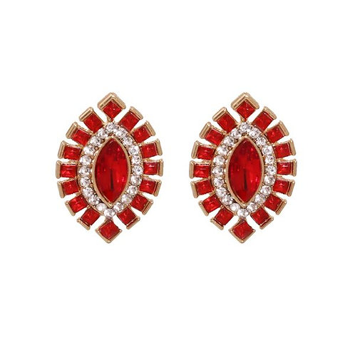 Holly Studs Red