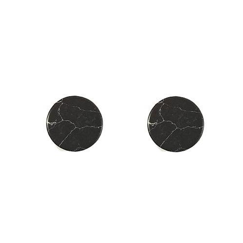Flat Back Circle Marble Stud