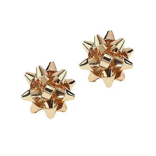 Gold Bow Studs