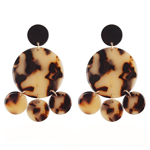 Tortoise Blonde Circle Dangles