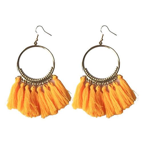 Boho Hoops Electric Orange