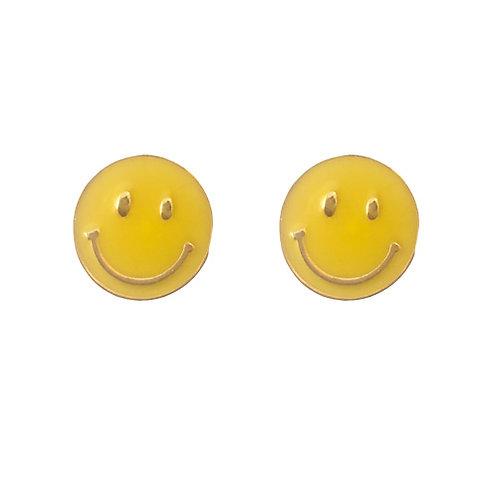 Metal Yellow Smile Face
